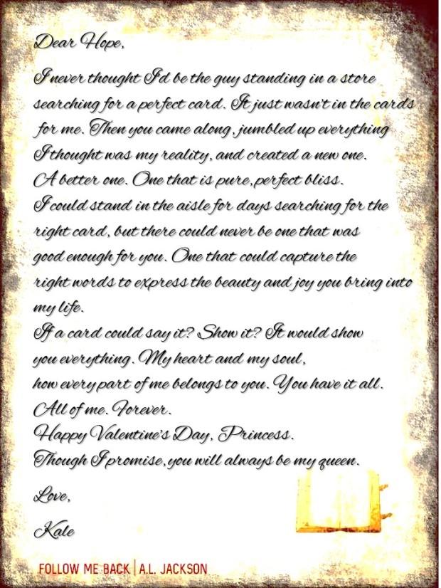 Love Letter _AL Jackson