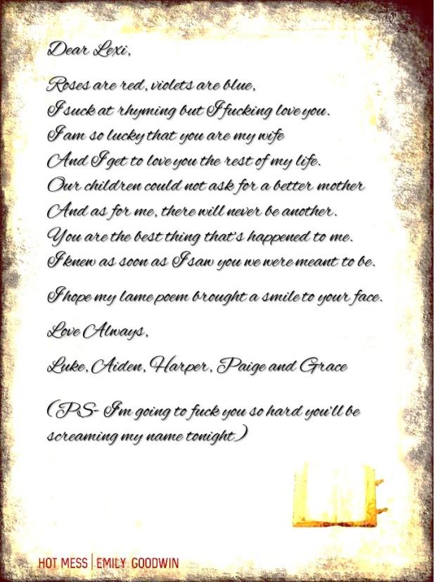 Love Letter _Emily Goodwin